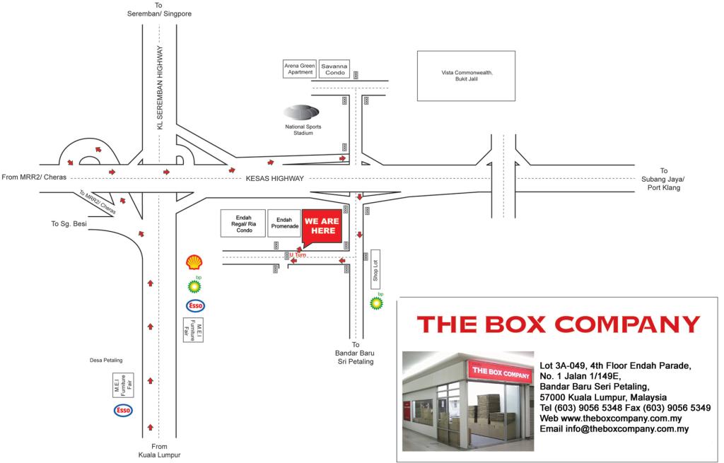 where to buy boxes in Kuala Lumpur, Malaysia