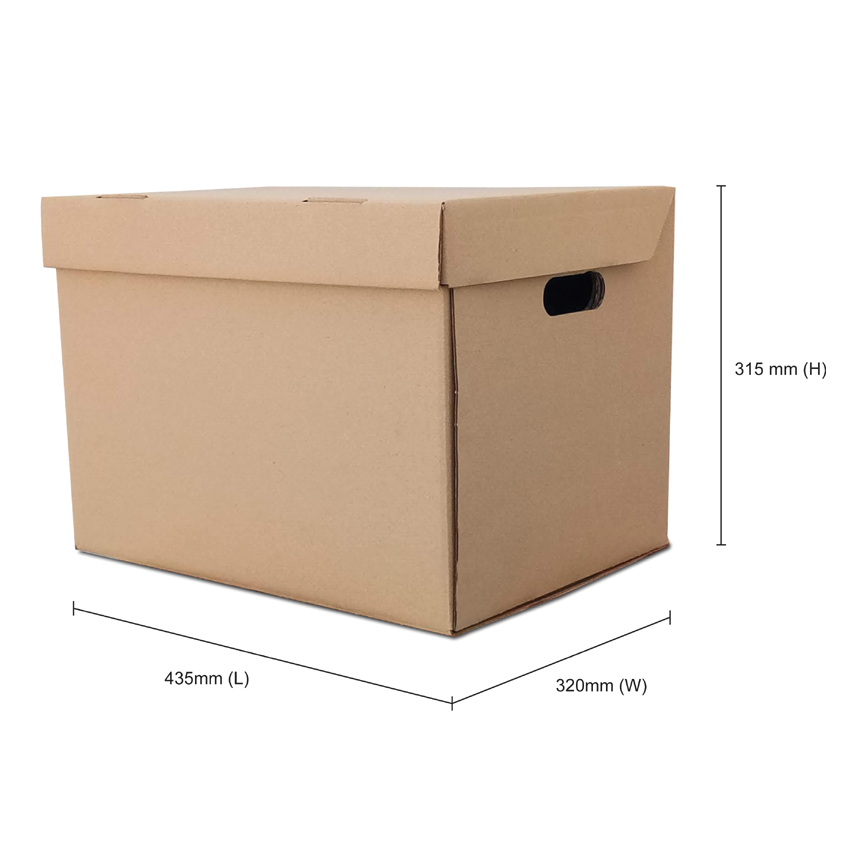 cardboard storage box malaysia size